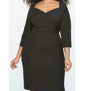 Eloquii black sweetheart neck dress 20 New